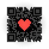 Coração em QR code