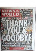 News Of The World Newspaper