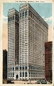 NEW YORK CITY â?? CIRCA 1915: Vintage postcard depicting the Equitable Building in Manhattan, a neoc