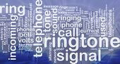 Word cloud concept illustration of telephone ringtone international