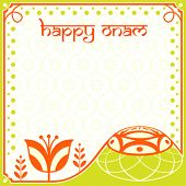 foto of pookolam  - Decorated greeting card for indian Onam holiday - JPG