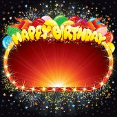 pic of happy birthday card  - Happy Birthday Vector Background for your Congratulations - JPG