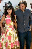 LOS ANGELES - JUL 10:  Zooey Deschanel; Ben Gibbard arriving at the