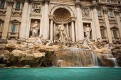 Fontana di Trevi - the famous Trevi fountain in Rome, Italy