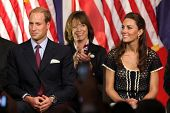 LOS ANGELES - JULY 10:  Prince William, and Catherine,  The Duke And Duchess Of Cambridge attend The