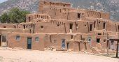 Adobe pueblo housing