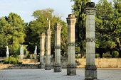 Religious Monument And Ancient Columns poster