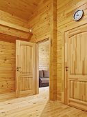 stock photo of anteroom  - Doors to rooms - JPG