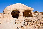 Stone Cave Home In Bab As-siq In Petra