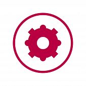 Gear Icon Isolated On White Background From Industrial Process Collection. Gear Icon Trendy And Mode poster