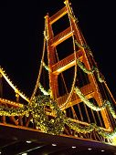 Golden Gate At Christmas