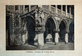 Italy - Circa 1910: A Picture Printed In Italy Shows Image Of Palazzo Ducale In Venice, Vintage Post