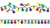 Garlands, Christmas Decorations Lights Color Effects. Glowing Lights For Xmas Holiday. Christmas Dec poster