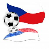 Football Flag Czech Republic
