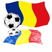 Football Flag Romania