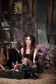 Sad Fairy In Suitcase