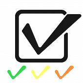 Check Mark Isolated Icon. Checklist Button Icon. Check Mark, Tick Vector Icon. Checkmark Icon Vector poster