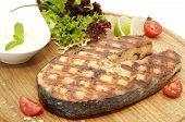 succulent salmon steak