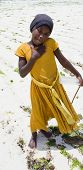 Young Girl on the Beach in Zanzibar