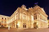 Vienna State Opera At Night