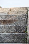 Stone Steps With Steps From The Frontal View - Massive Step By Step poster