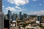 View From An Apartment Tower Across Miami Brickell