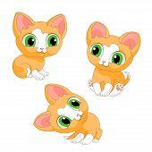 Kittens Cats Red Cat Kitten Pet Illustration Vector poster