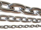 Metal chain isolated