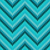 Cozy Zigzag Chevron Stripes Knit Texture Geometric Vector Seamless. Plaid Hosiery Textile Print. Cla poster