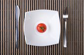 Juicy Tomato In Plate