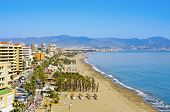 TORREMOLINOS, SPAIN - MARCH 13: Bajondillo Beach on March 13, 2012 in Torremolinos, Spain. This popu