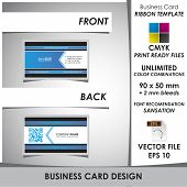 Corporate Business Card Ribbon Template