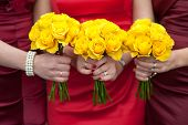 Yellow Rose Wedding Bouquets