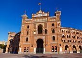 stock photo of bullfighting  - Famous bullfighting corrida arena in Ventas Plaza  - JPG