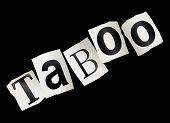 Conceito de tabu.