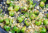 Fried Brussels Sprouts With Migas