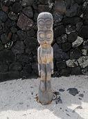 Small Tiki Statue on Big Island Hawaii