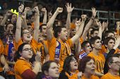 VALENCIA - JANUARY 29: supporters of valencia during Bakestball match between Valencia Basket Club a