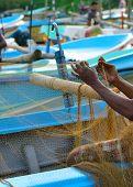 Fisherman Sets Of Fishing Gear