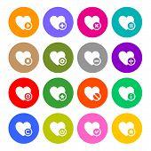 Icons set - hearts