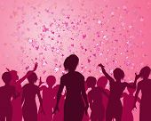 stock photo of hen party  - Illustration of a girls enjoying a fabulous party - JPG