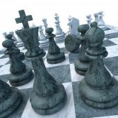 Ongoing chess game with a pawn down