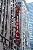 CHICAGO, IL - Oct 6: Oriental Theatre and street on October 6, 2011 in Chicago, Illinois. It is list