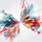 Abstract background with a colourful shape design