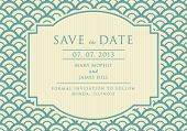 Vintage elegant Save the Date
