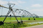 Irrigation system on field