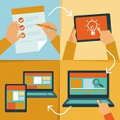 pic of process  - Vector web design process  - JPG