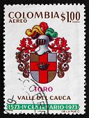 Postage Stamp Colombia 1973 Arms Of Toro, Colombia