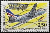 postage stamp shows the plane that made the first trip zip between Nancy and Luneville in 1912