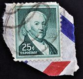 A stamp shows Paul Revere American silversmith industrialist patriot in the American Revolution